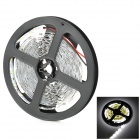 LSON G-3528 12W 6500K 900lm 300-SMD 3528 LED White Light Strip - White + Black (DC 12V / 5m)