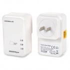 7HP120 200Mbps Mini Homeplug US Plug AV Ethernet Adapter Kit - White