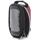 YANHO YAN-02 Bike Polyester + PU Top Tube Bag - Black + Red