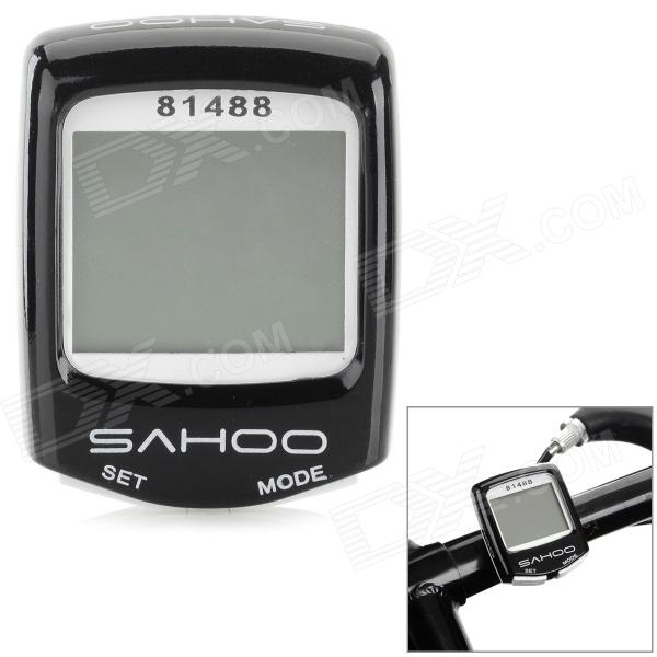 SAHOO 81488 1.5 Screen Wired Water Resistant Bicycle Stopwatch / Odometer - Black + White f l18sa portable freezer 20 l mini fridge refrigerator car home a dual use compact car fridge 12 220 v temperature variations