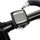 "SAHOO 81488 1.5"" Screen Wired Water Resistant Bicycle Stopwatch / Odometer - Black + White"