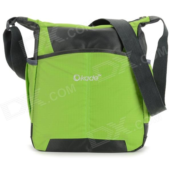 OKADE T24 Casual Nylon One-Shoulder Bag for 11.6 Laptop / Tablet PC - Green + Black стоимость