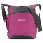 "OKADE T24 Casual Nylon One-Shoulder Bag for 11.6"" Laptop / Tablet PC - Purple + Black"