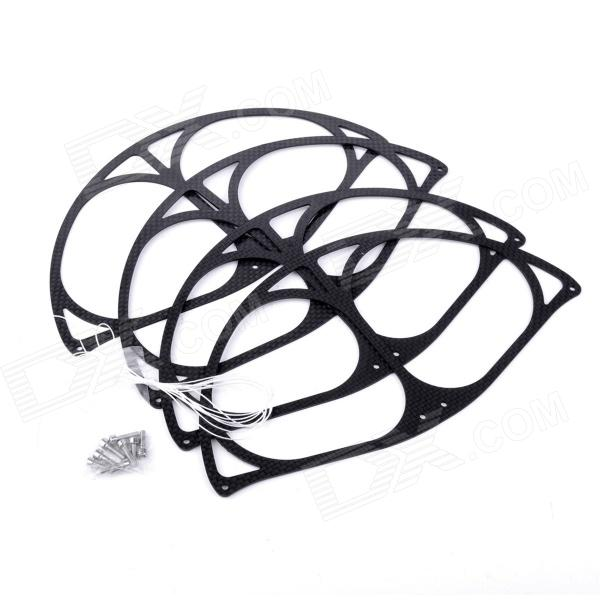 Carbon Fiber Propeller Protective Guard for DJI Phantom - Black (4 PCS) 4pcs protective guard protective cover for dji phantom 4