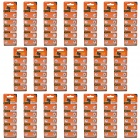 TianQiu HW01 AG0/379A/L521/LR63 1.55V Alkaline Cell Button Batteries (20 Packs / 200 PCS)