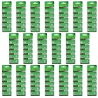 TIANQIU HW01 AG1/364A/L621/LR60 1.55V Alkaline Cell Button Batteries - Silver (20 Packs / 200 PCS)