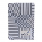 Lines Style Protective PU Leather + Plastic Case Cover Stand for IPAD AIR - White + Deep Blue