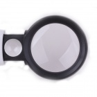 ZnDiy-BRY MG7B-3B 5X / 20X Rubber Handle Magnifier w/ Two LEDs - White + Black (3 x AAA)