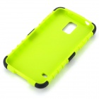 Protective TPU + PC Case Stand for Samsung Galaxy S5 - Black + Green