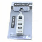 High Speed ​​4-Port USB 2.0 Hub con Switch (Blanco)
