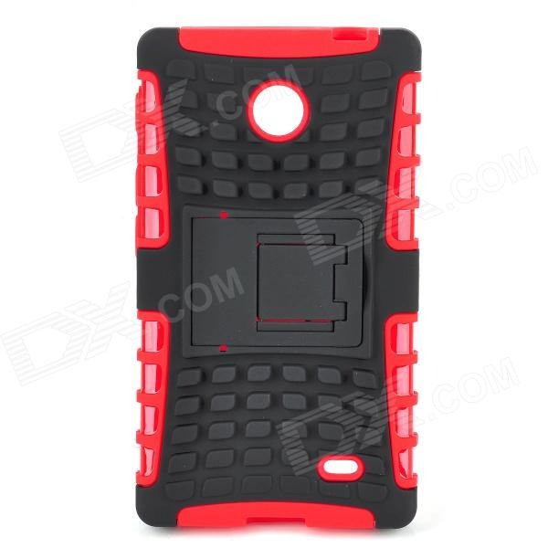 Protective TPU + PC Case Stand for Nokia X - Black + Red духовой шкаф electrolux eoa95551ax нержавеющая сталь page 2