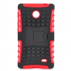 Protective TPU + PC Case Stand for Nokia X - Black + Red