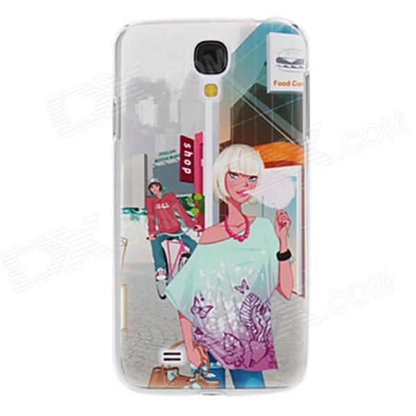 Kinston kst00190 Cotton Candy Girl Pattern Protective Plastic Back Case for Samsung Galaxy S4 i9500 protective cute spots pattern back case for samsung galaxy s4 i9500 multicolored