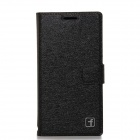 Flower Show Protective PU Leather Case Cover Stand for HUAWEI P6 - Black