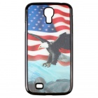 3D US Flag + American Eagle Pattern Protective PC Back Case for Samsung Galaxy S4 i9500 - Blue + Red