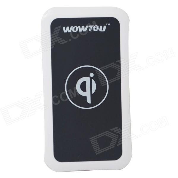 WOWTOU WSI Qi Standard Mobile Wireless Power Charger - White + Black k7 universal qi standard mobile wireless power charger black