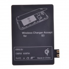 T2 Wireless Charger Pad + Wireless Charger Receiver for Samsung Galaxy S3 i9300 - White + Black