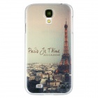 Paris Eiffel Tower Pattern Protective PC Back Case for Samsung Galaxy S4 i9500 - White + Yellow