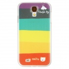 Rainbow Design Protective PC Back Case for Samsung Galaxy S4 i9500 - Red + Yellow