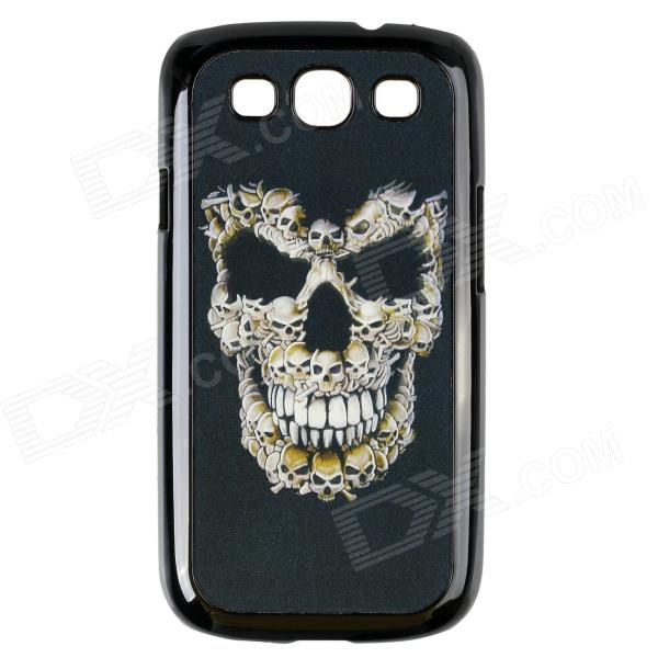 3D Skeleton Pattern Protective PC Back Case for Samsung Galaxy S3 i9300 - Black 8x zoom telescope lens back case for samsung i9100 black
