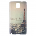 Paris Jetaime Eiffel Tower Pattern Protective PC Back Case for Samsung Galaxy Note 3 - White