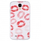 Stylish Sexy Rosy Lips Pattern Protective PC Back Case for Samsung Galaxy S4 i9500 - White + Red