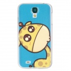 Stylish Lovely Giraffe Pattern Protective PC Back Case for Samsung Galaxy S4 i9500 - Blue + Yellow