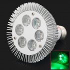 HML E27 6W 540lm 550nm 6-LED Green Light Spotlight - Silver (AC 85~265V)