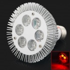 HML E27 6W 655nm 600lm Red Light 6-LED Spot Light (AC 85~265V)