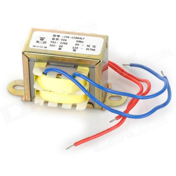 5va 50hz 220v to 12v 417ma transformer golden yellow for Transformador 12v a 220v