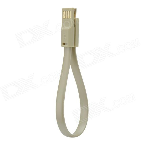 Flat Micro USB Male to USB 2.0 Male Data Sync / Charging Cable for Samsung + More - Purple (200cm)