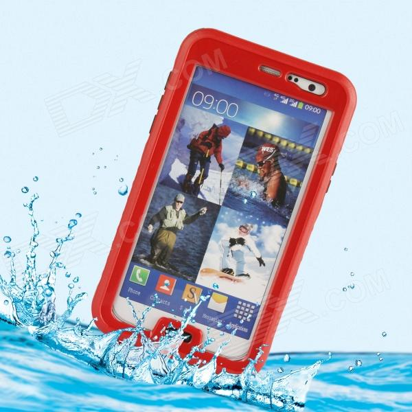 Protective PC + Silicone Waterproof Case for Samsung Galaxy Note 3 - Red + Transparent pannovo silicone shockproof fallproof dustproof case for samsung galaxy note 3 camouflage green