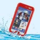 Protective PC + Silicone Waterproof Case for Samsung Galaxy Note 3 - Red + Transparent