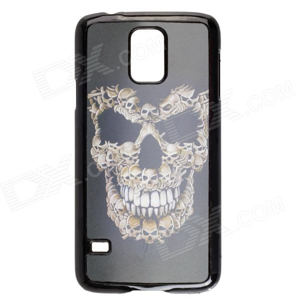Fashionable 3D Skull Pattern Protective PC Back Case for Samsung Galaxy S5 - Black