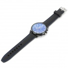 WEIJIEER 5018 Men's Analog Quartz PU Wristband Sport Watch - Black + Deep Blue (1 x 626)