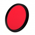 SING 52mm Full Red Color UV Filter for DSLR Filter - Red + Black