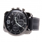 Super Speed V6 NO.V0183 Stylish Men's Silicone Band Quartz Analog Wrist Watch - Black (1 x LR626)