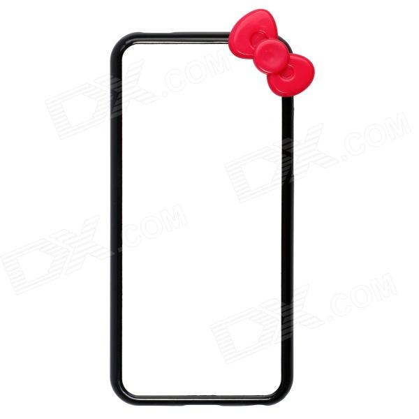 Bowknot Style Protective Bumper Frame Case for IPHONE 5C - Black stylish protective plastic bumper frame case for iphone 5c beige black