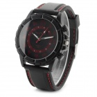 WEIJIEER 5046 Men's PU Wristband Analog Quartz Sport Watch w/ Backlight - Black + Red (1 x SR626)