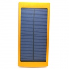 "Universal Dual-USB ""20000mAh"" Solar Powered Li-ion Battery Power Bank - Golden + White"