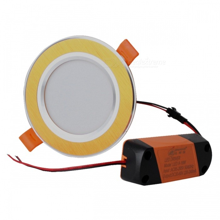 ZHISHUNJIA 12W 900lm Warm White 24-SMD 5630 LED Ceiling Light w/ LED Driver (85~265V)
