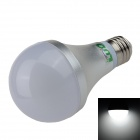 LUO E27 12W 1000lm 6500K 24 x SMD 5630 LED White Light Bulb - Silver + White (85~265V)