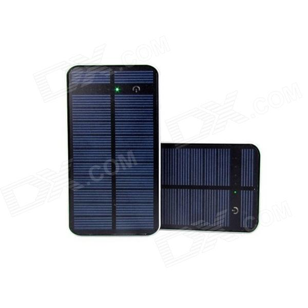 M-4819 12000mAh Dual-USB Solar Powered Portable Li-polymer Battery Power Bank for IPHONE + More portable dual usb 5v 10000mah li ion polymer battery solar power bank w led black grey