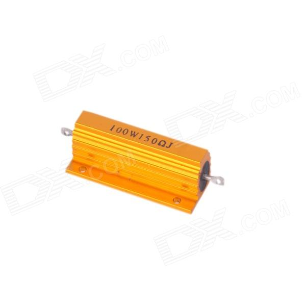 ZnDiy-BRY 100W 150ohm Aluminum Alloy Resistor - Golden high quality customized 150 ohm 500w watt power aluminum metal shell case gold resistor