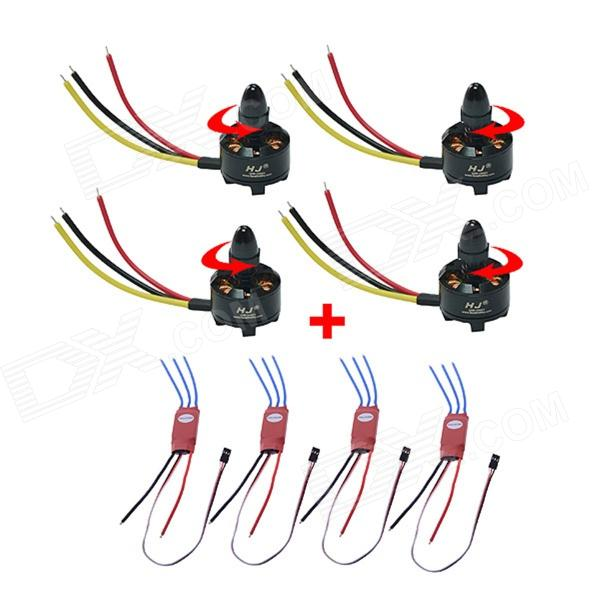 30A ESC with HJ2208 1400KV Brushless Motor for R/C Helicopter / R/C Aircraft hobbywing pentium 30a brushless speed controller esc for r c helicopter quadcopter black