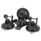 Car Adapter Holder 3 Point Suction Cup Accessories for GoPro Hero 2 / 3 / 3+ - Black