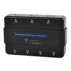 High Speed USB 2.0 7-Port HUB w/ LED Indicator - Black