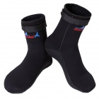 3mm Anti-Slip Outdoor Diving Swimming Submersible Socks - Black (Pair / L)