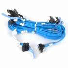 Amphenol High Speed SATA 3.0 Hard Disk Data Cable - Blue + Black (5 PCS)