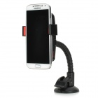 Convenient Car Mounted Suction Cup ABS Cellphone Holder - Black + Red